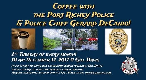 Coffee With A Cop at Gill Dawg @ Gill Dawg | Port Richey | Florida | United States