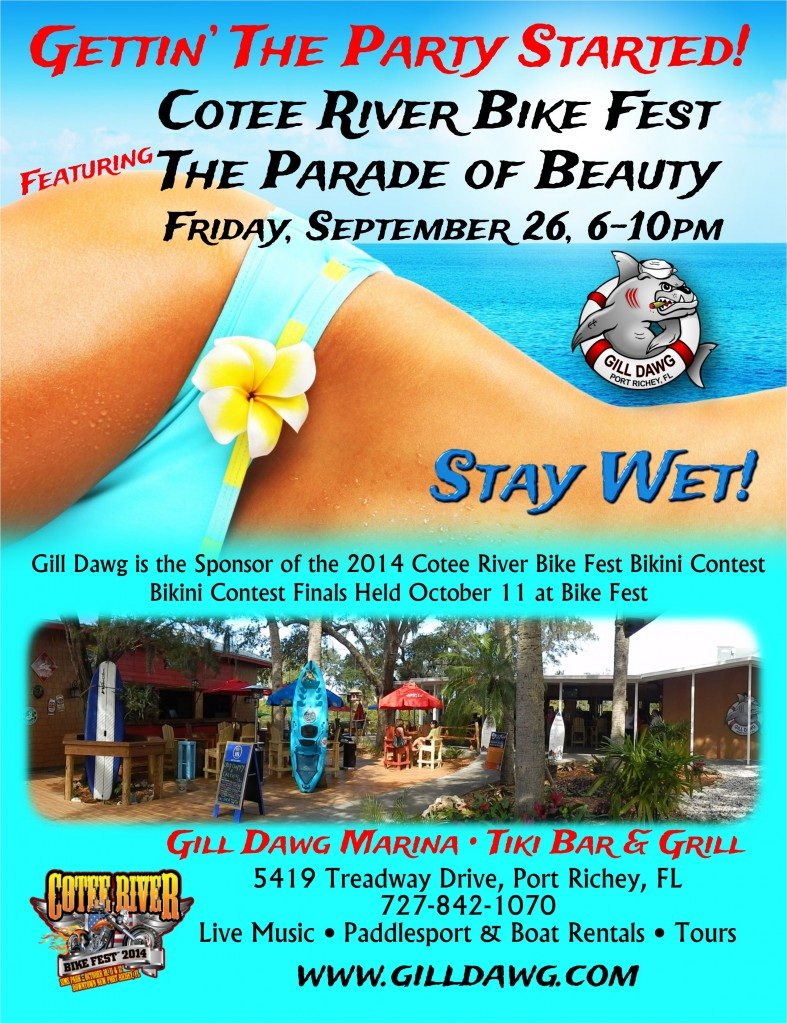 "Cotee River Bike Fest 'The Parade of Beauty"" - Live music by Rev Kings @ Gill Dawg 
