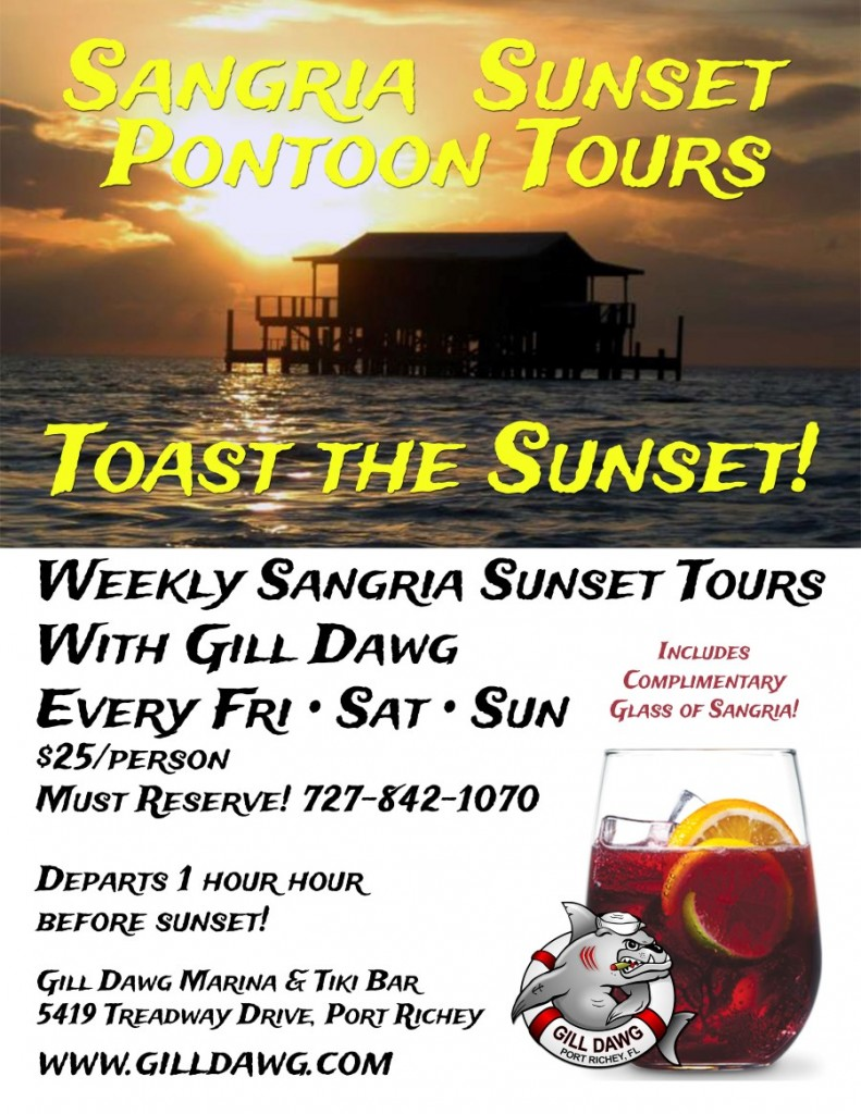 Sangria Sunset Pontoon Tours @ Gill Dawg | Port Richey | Florida | United States