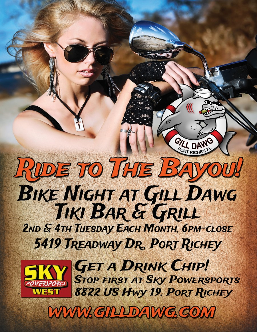 Full Throttle Bike Night at Gill Dawg  @ Gill Dawg | Port Richey | Florida | United States