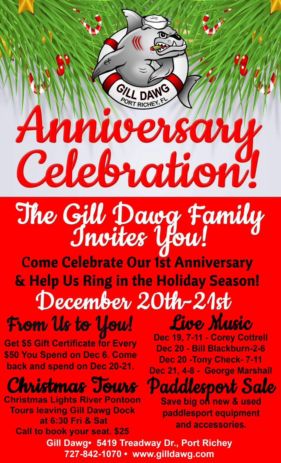 Anniversary Celebration & Sale @ Gill Dawg | Houston | Texas | United States